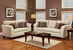 Picture Of 2Piece Gazelle Tan Living Room Set  For The Home Pleasing Tan Living Room Collection Design Ideas