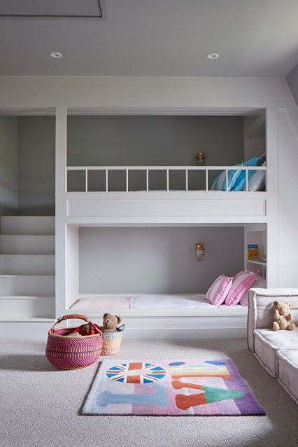 Cool Bedroom Ideas For Teenage, Kids, And Twin   Built In Bunk Beds In  Kidsu0027 Bedroom Ideas On HOUSE By House U0026 Garden. Fun Ideas For Kidsu0027 Bedrooms  That ...