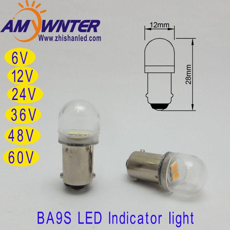 T4w Ba9s E10 Led Bulbs 12v White Car 6v Led Cars 2835 Smd Led