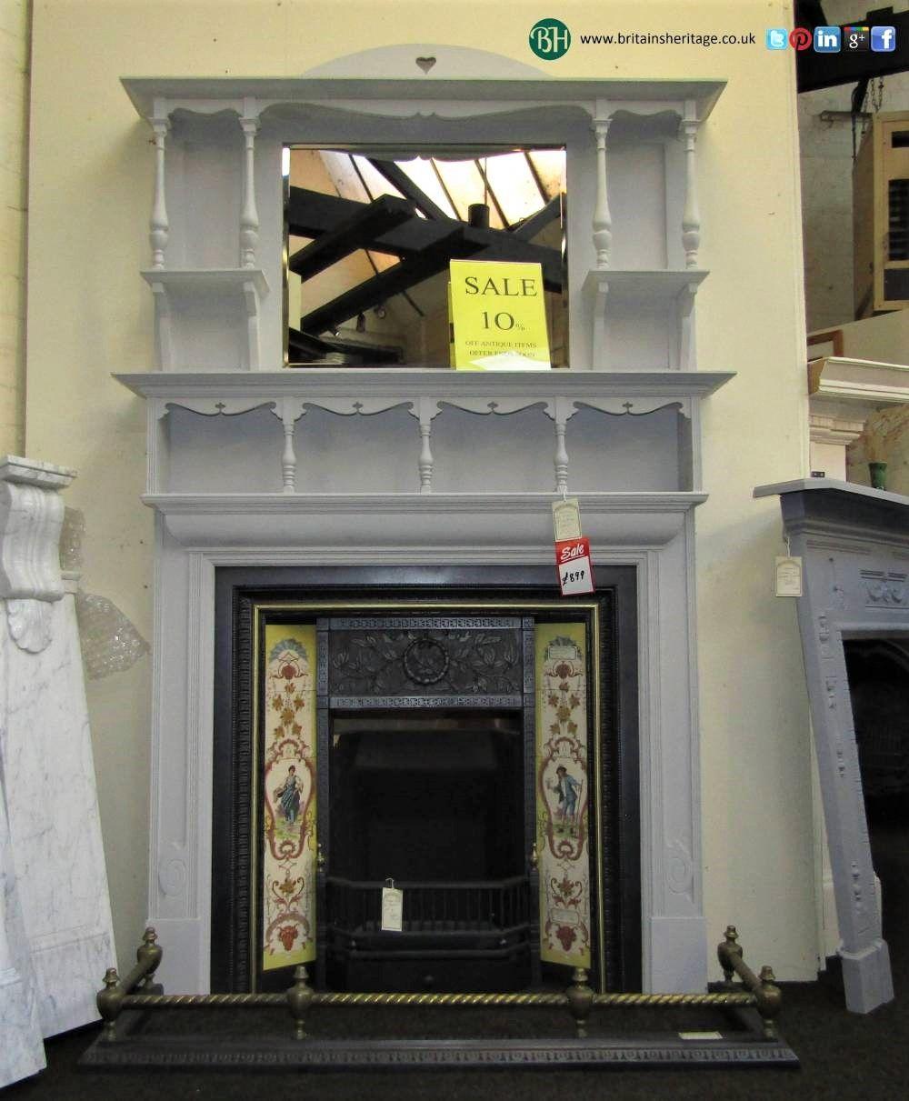 Awe Inspiring Antique Victorian Cast Iron Brass Inlaid Fireplace Insert Download Free Architecture Designs Pushbritishbridgeorg