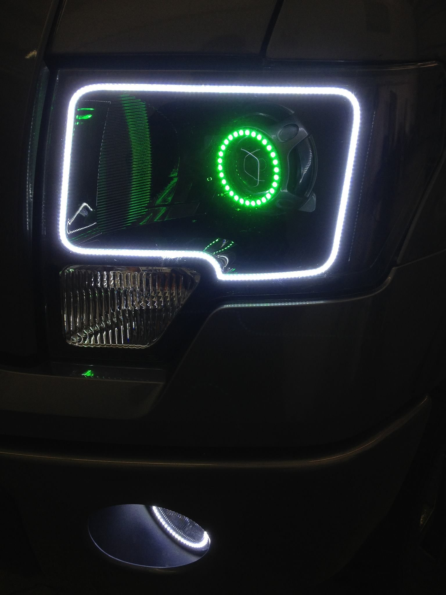 Custom Is Just A Begging With Lighting Ford F150 Modified 3x3 Led Fog Light Installledrockerswitchdiagramjpg Headlights Halo Rings Lights Shoppmlit Oraclelighting Oracle