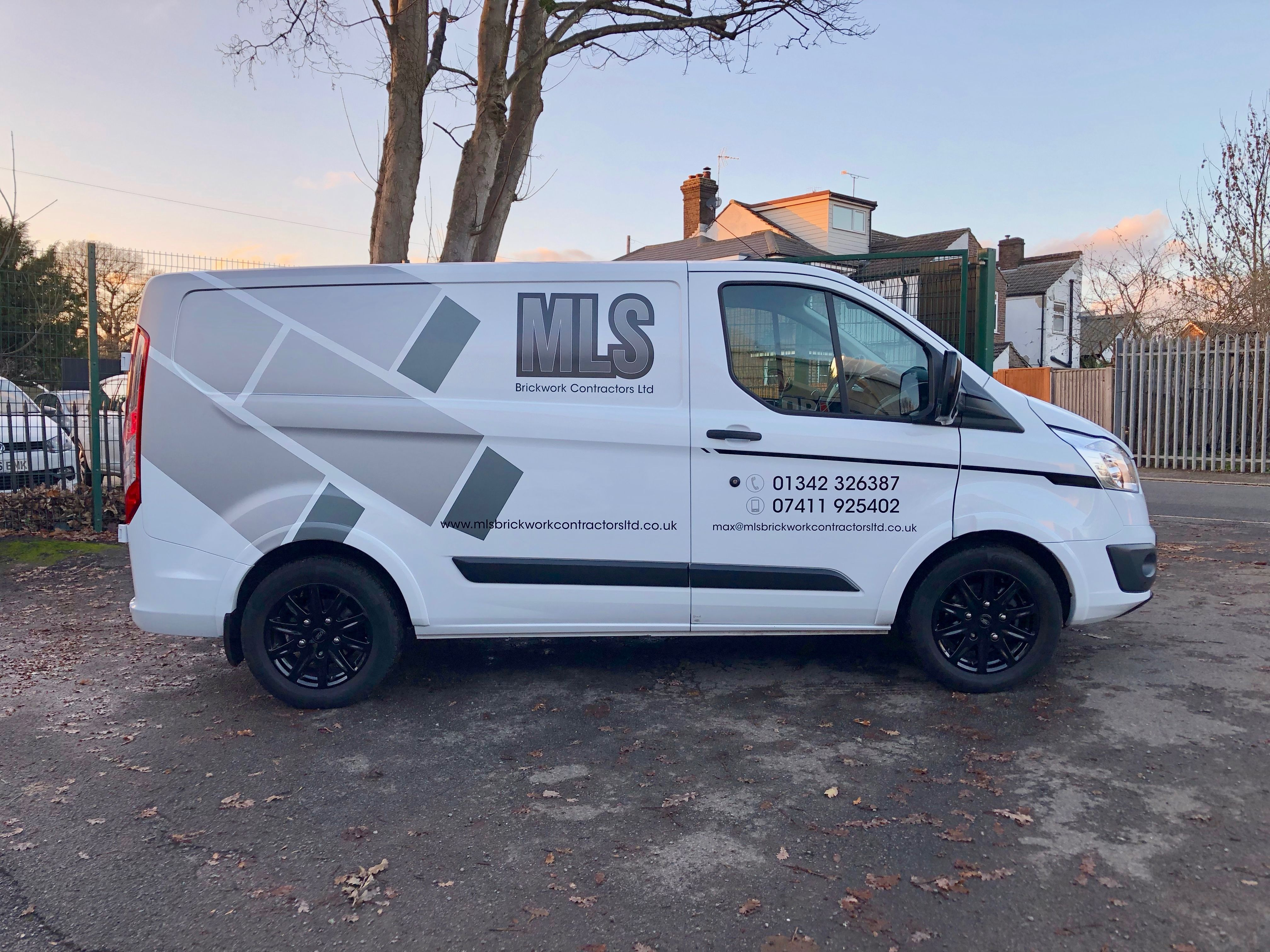Ford Custom With Matte Vinyl Graphics Fo Mls Brickwork East