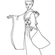 Dibujos De Princesas Para Colorear Princesa Japonesa Para Imprimir Princesas Para Colorear Colorear Princesas Princesas Dibujos