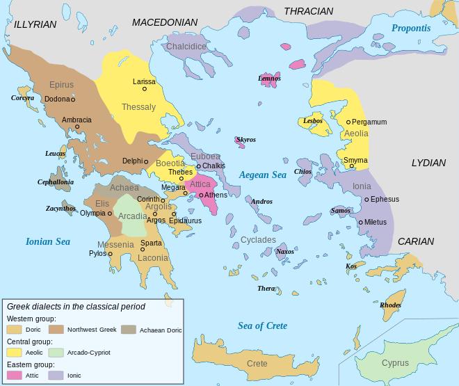 History Of Greek Wikipedia The Free Encyclopedia Ancient Greece Map Ancient Greece Greece Map