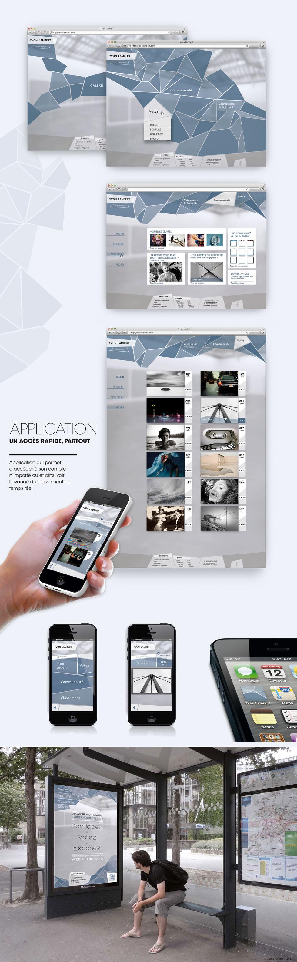 ©Sonia Ricoult Webdesign, identité, concours, Yvon Lambert, graphisme