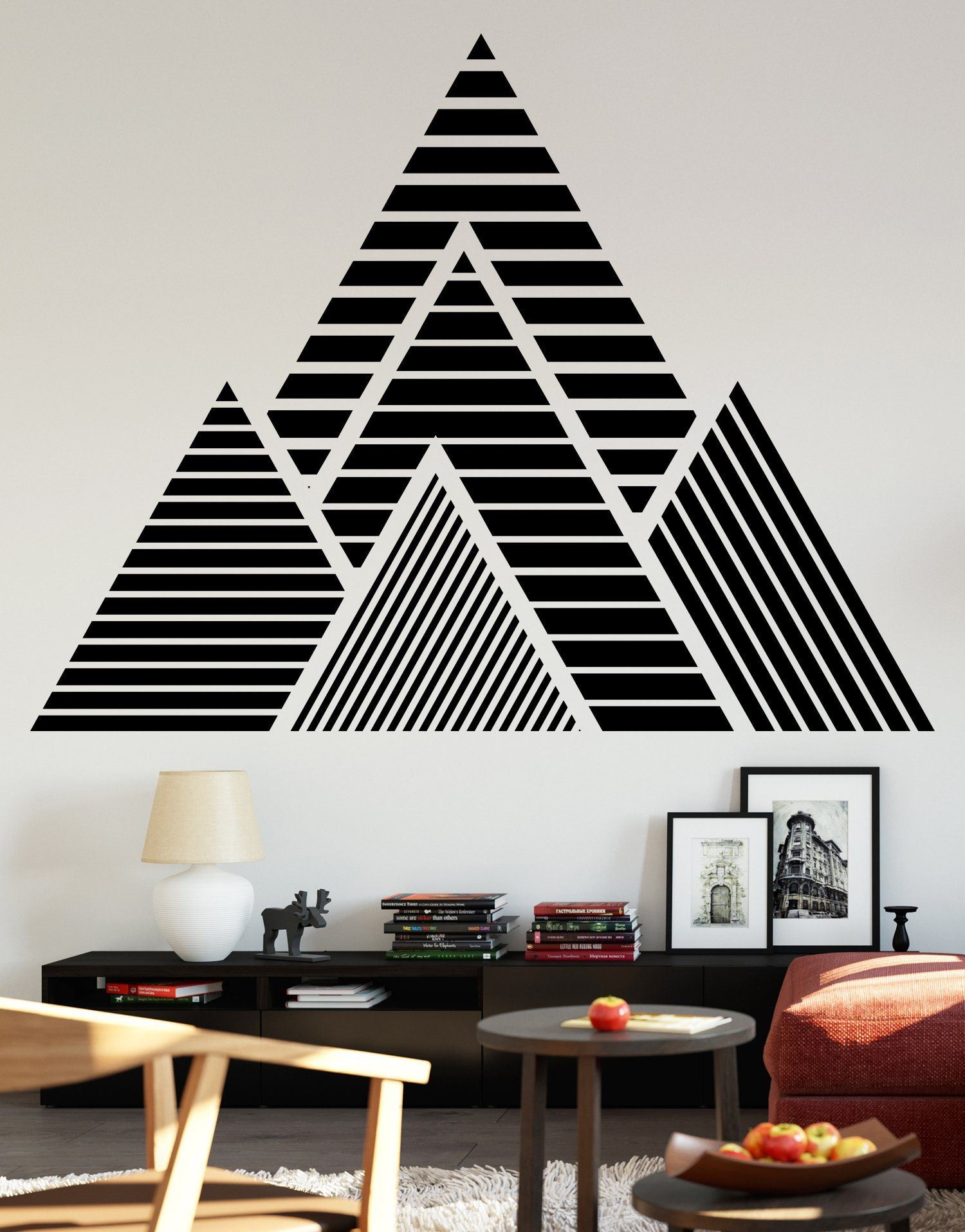 Mountain Wall Sticker Mountain Vinyl Wall Decal Tape Wall Art Wall Decor Design Vinyl Wall Decals