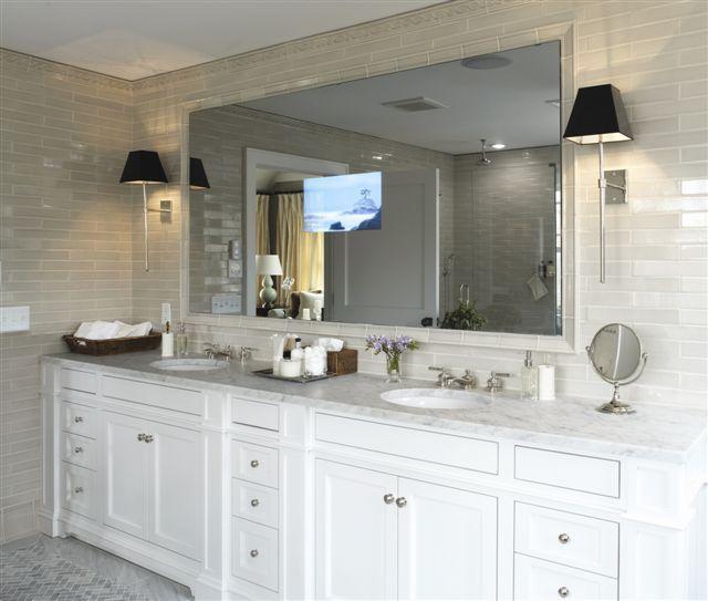 Westchester Master Bath: Master Bathroom Vanity, TV In Mirror. *** Get This As Part