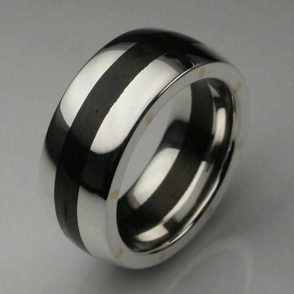 Designer Mens Wood Rings Titanium Silver Gold Platinum London