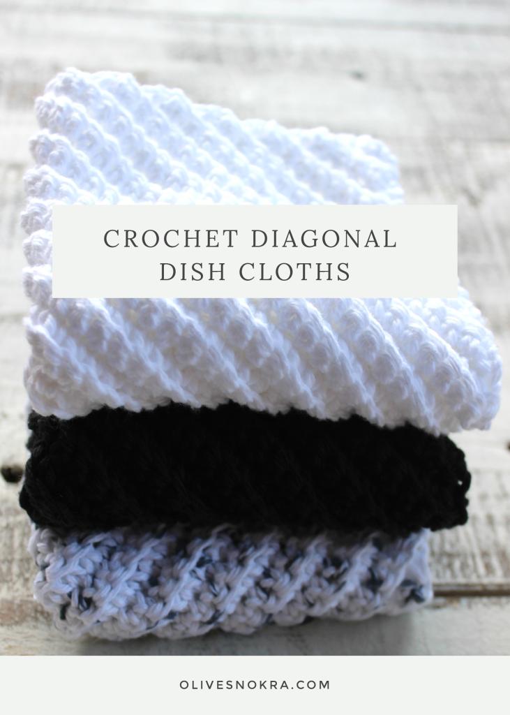Crochet Diagonal Dish Cloths | Topflappen, Häkeln und Stricken