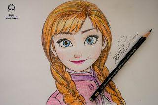 تعلم رسم وجه اميرة ديزني من فيلم Frozen Http Ift Tt 2uvidjp تعلم الرسم بألوان خشب دورة الرسم بالألوان الخشب شرح طريقة Cool Drawings Color Pencil Art Drawings