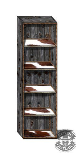 18X60 Rustic Weathered Wood Bookshelf