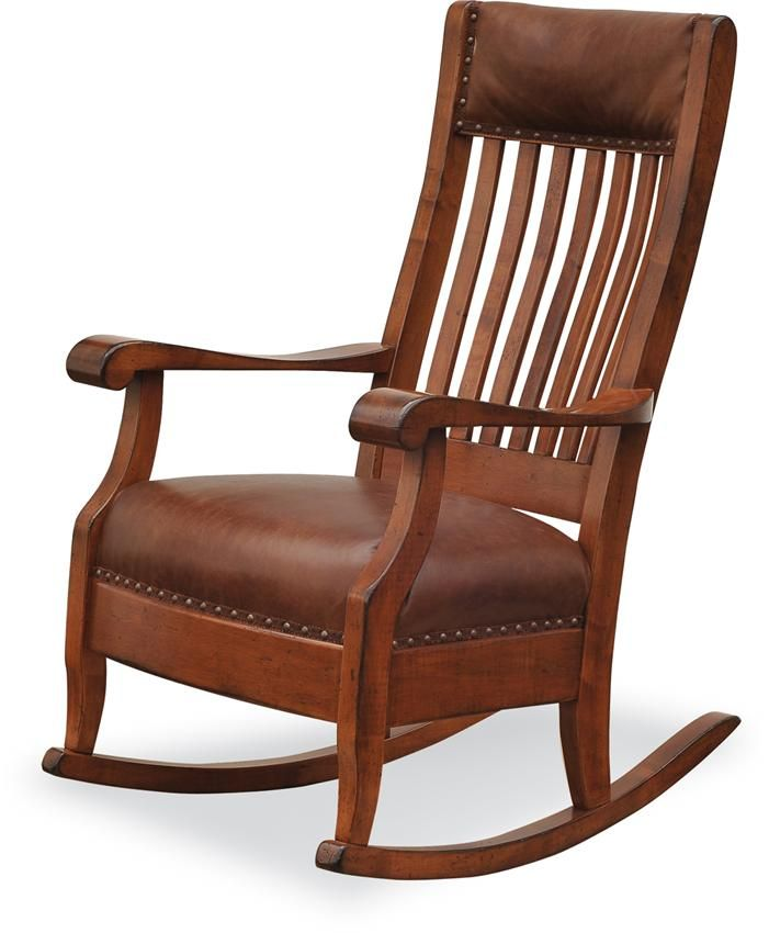 Amish Maybury Upholstered Rocking Chair Super Bowl