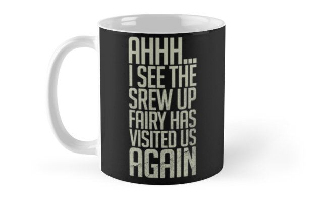 """Screw Up Fairy"" Mugs by junkydotcom | Redbubble - June 8"