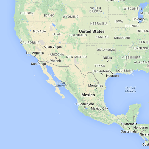 Distance between Mexicali (Baja California,Mexico) and Matamoros ...