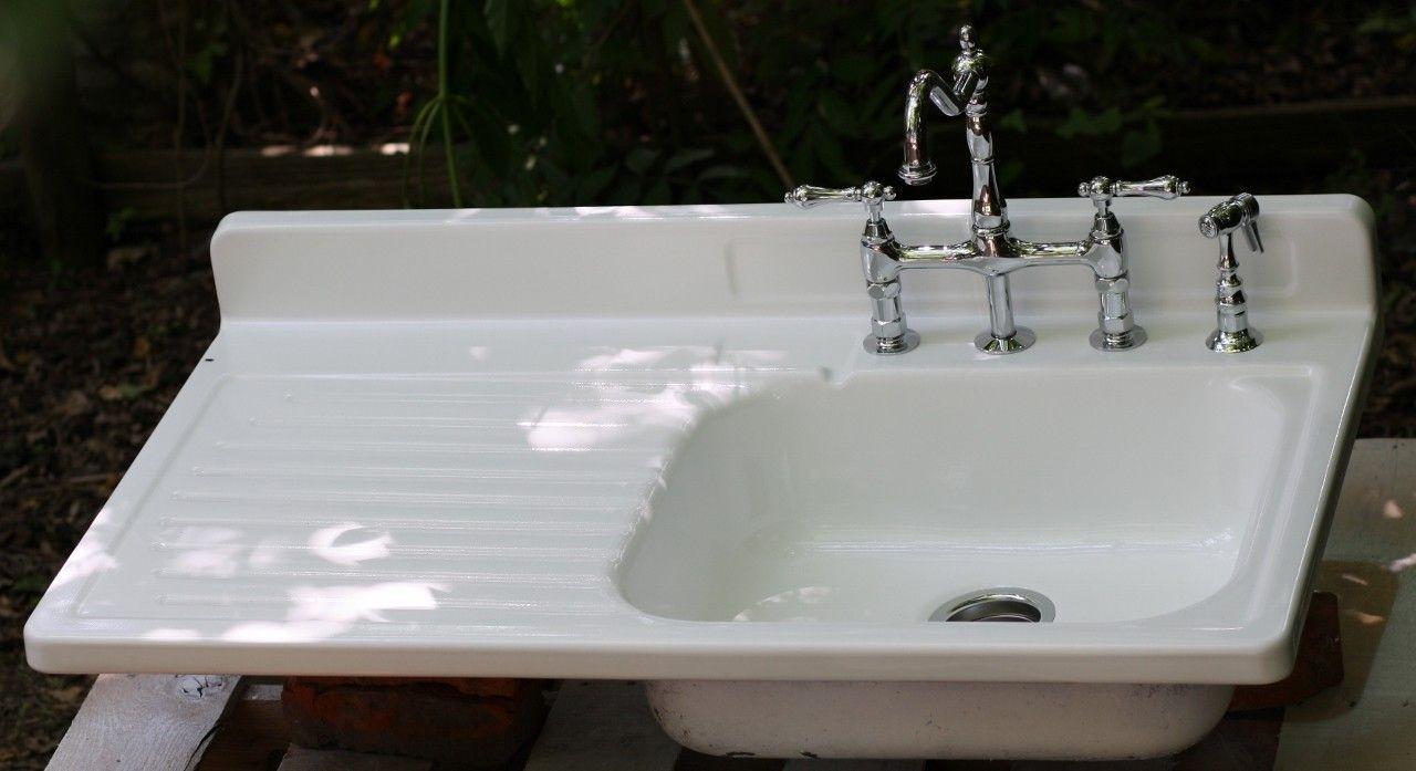 Farmhouse Sink W Drainboard Lefthand Sink  My Kitchen New Menards Kitchen Sinks Inspiration