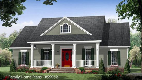 Small Country Style House Plans | Country Home Designs Porch Cottage Style And House