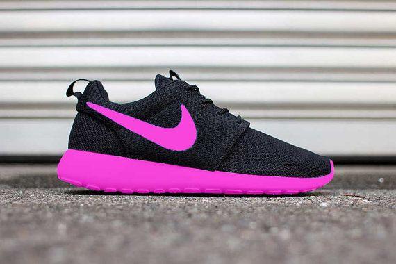 Custom NEON PINK Painted Nike Roshe Run by DailyApparelCustoms