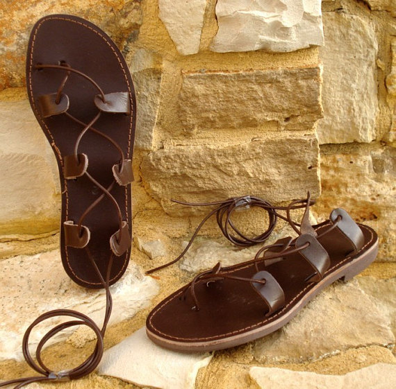 e466fd4ef Grecian handmade leather sandals for men from Greece