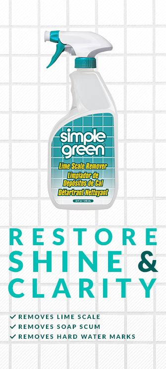 Simple Green Is The Safer Choice For Use On Porcelain Sinks Toilets And Tubs Ceramic Tile Shower And Fa Shower Tile Cleaning Shower Tiles Cleaning