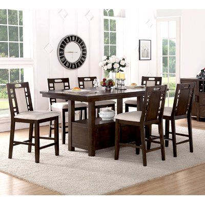 Bridlewood 6 Piece Dining Set Counter Height Dining Table Set