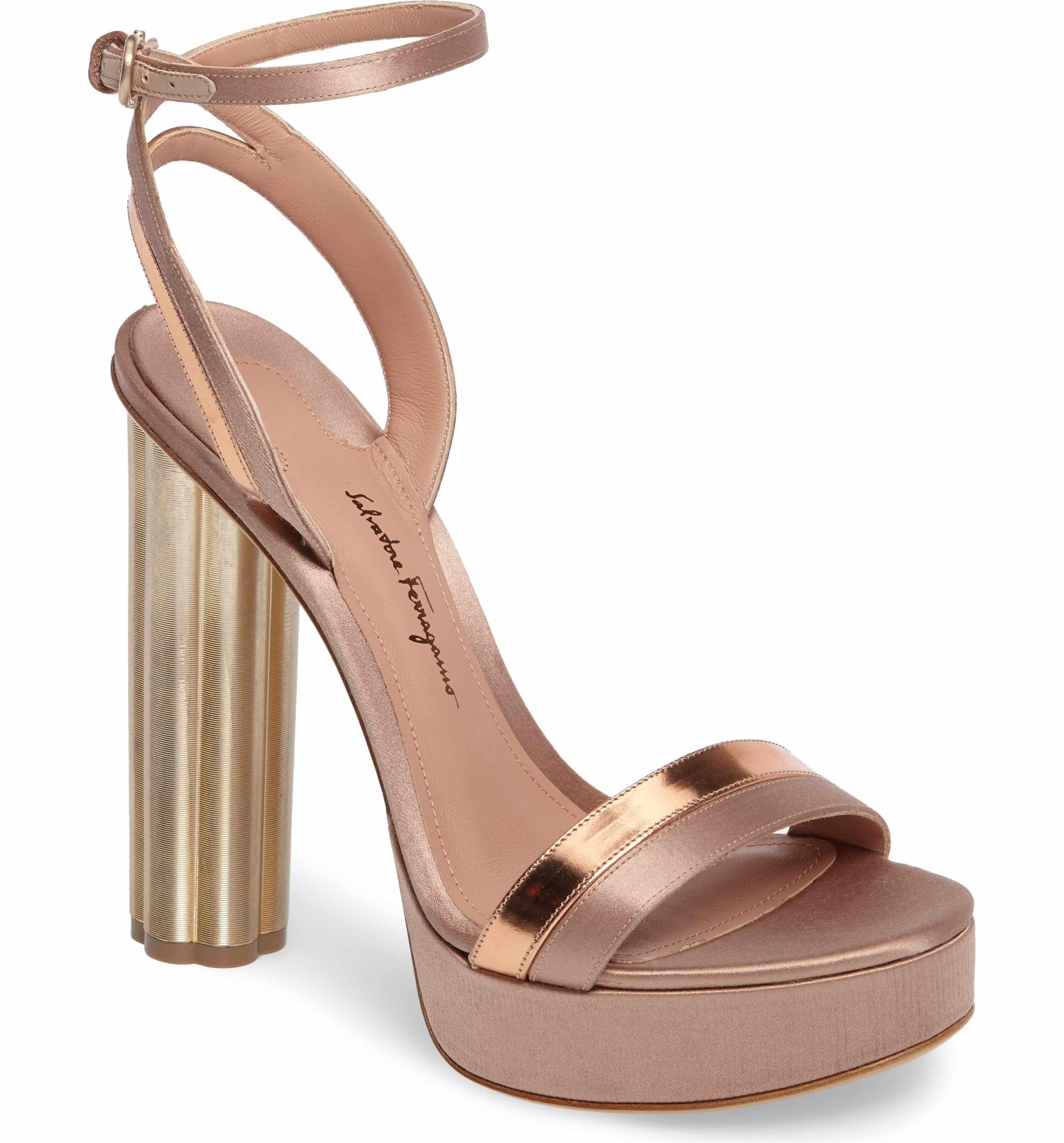 7e273f38c78 Main Image - Salvatore Ferragamo Ischia Ankle Strap Platform Sandal (Women)