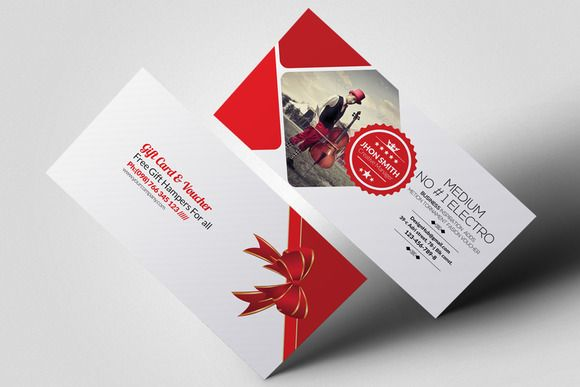 Multi Use Business Gift Voucher Business Gifts Gift Card Template Business Cards Creative Templates