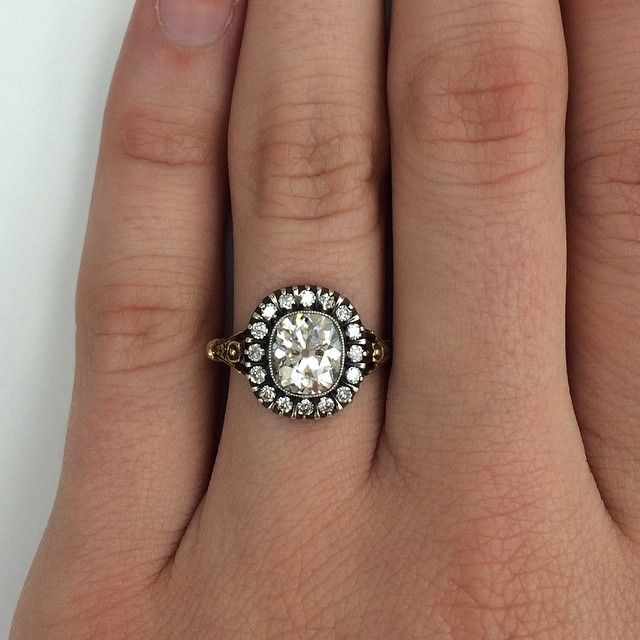 There is no filter needed for this baby!! A 1.48ct vintage cushion ...