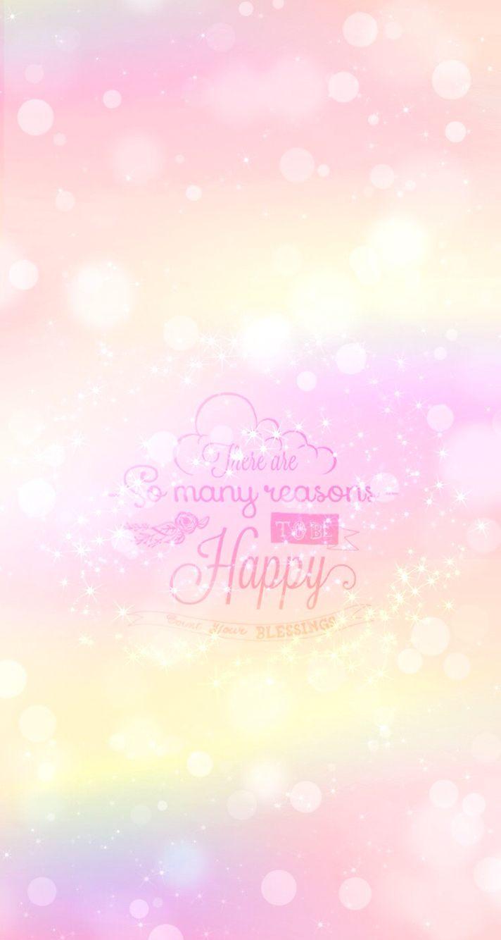Pink pastel bokeh iPhone wallpaper