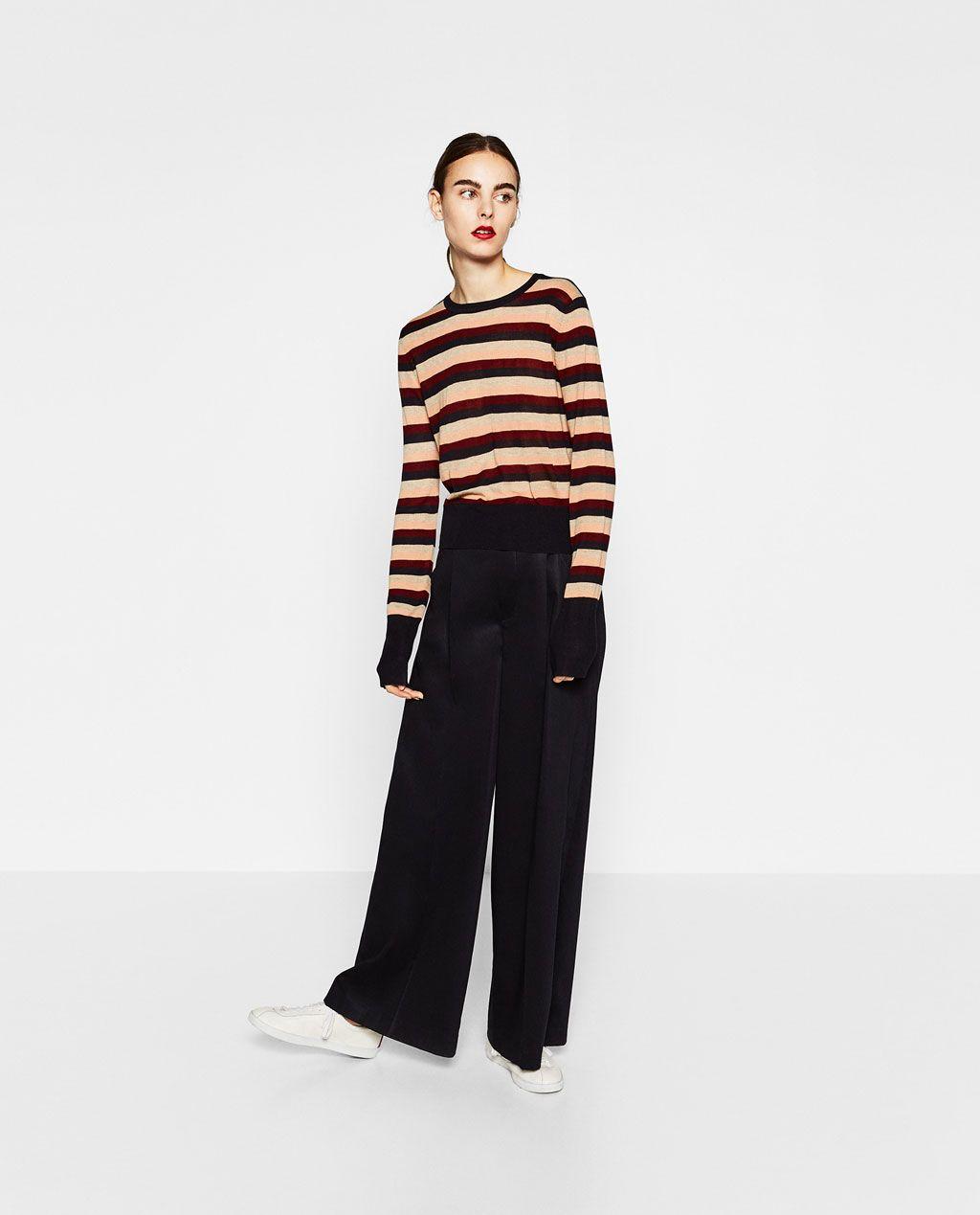 Imagen 1 de JERSEY CROP RAYAS de Zara | new look | Pinterest ...