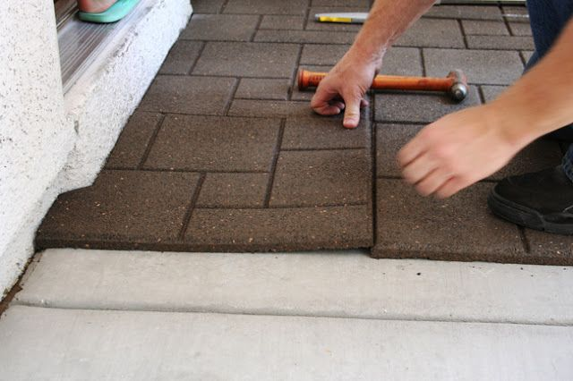 Eighteen25 Frontporch Makeover Using Easy Tiles Diy