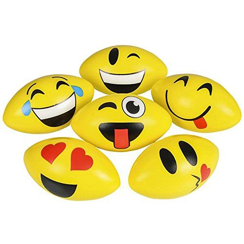 475 Foam Emoticon Football You Can Find Out More Details At The Link Of The Image Note It Is 75th Birthday Parties Birthday Party Supplies Football Birthday