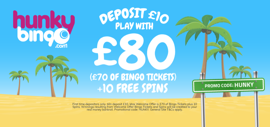 If You Join Hunkybingo And Make The Min Deposit Of Just 10 You