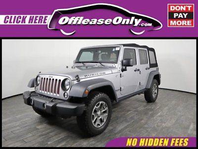 Ebay 2015 Jeep Wrangler Unlimited Rubicon 4x4 Off Lease Only 2015