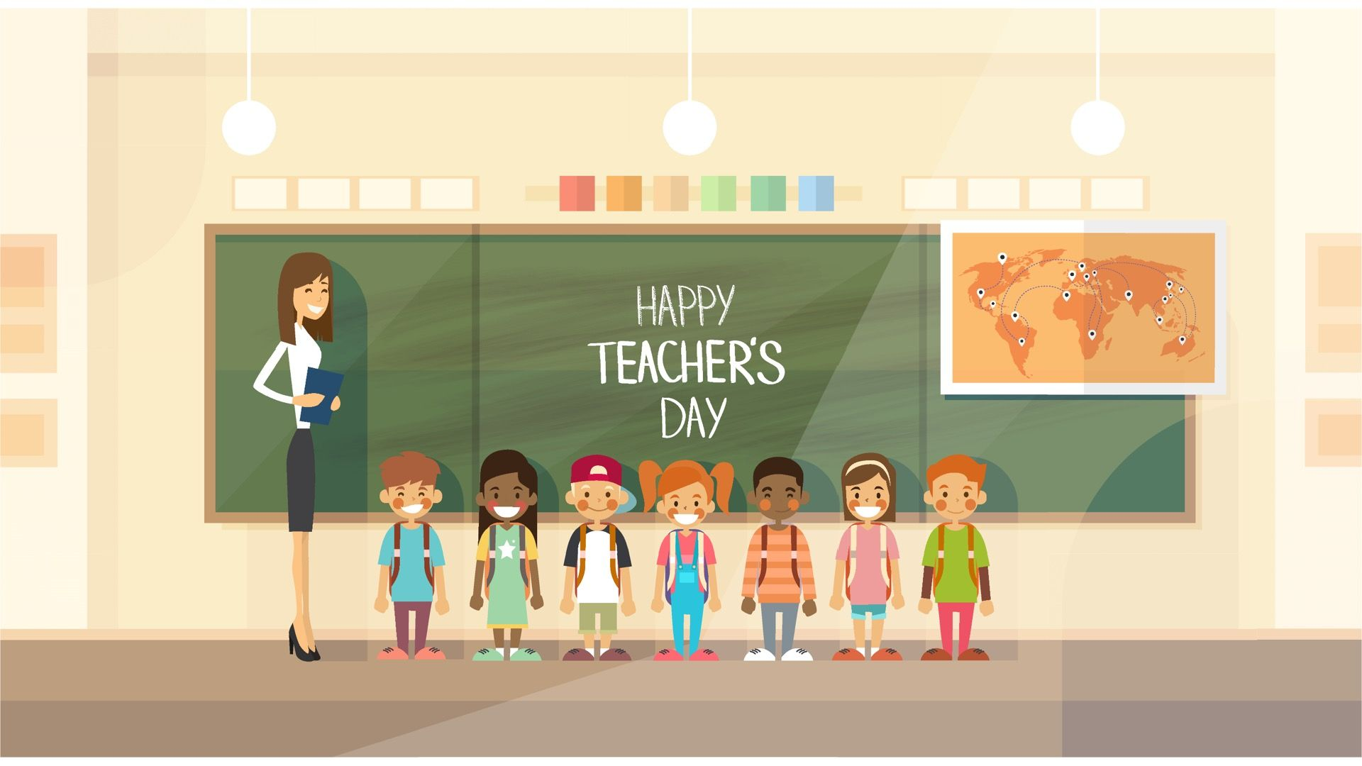 Trending Multipurpose Powerpoint Template In 2020 Happy Teachers Day Holiday Class Teachers Day