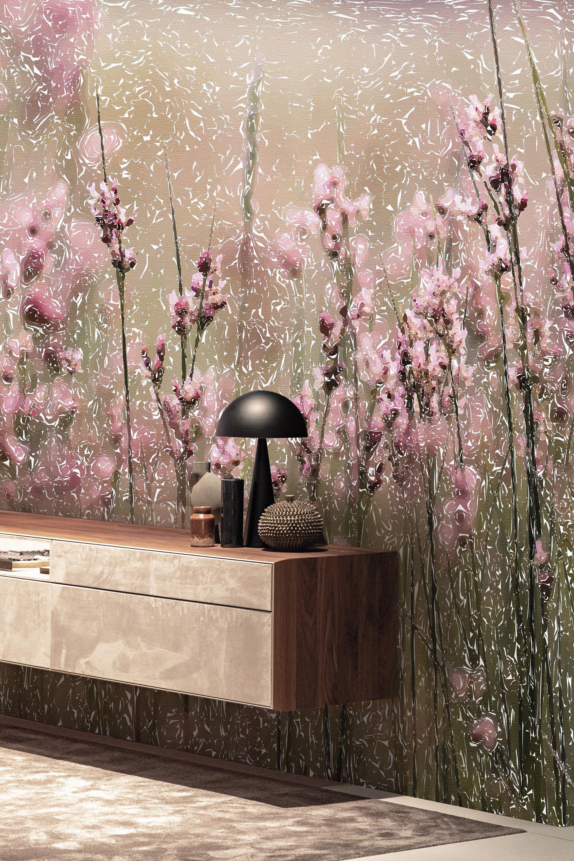 Floral Wallpaper Flower Wallpaper Contemporary Mural Pink Etsy Floral Wallpaper Flower Wallpaper Pink Wallpaper