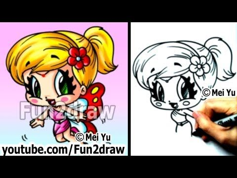 Fun Cartoons How To Draw People Butterfly Fairy Girl Con