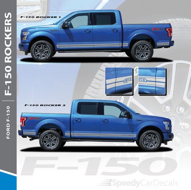 Affordable 4 Door Sports Car: 2017 Ford F150 Decals 15 150 ROCKER 1 2015-2017 2018 2019