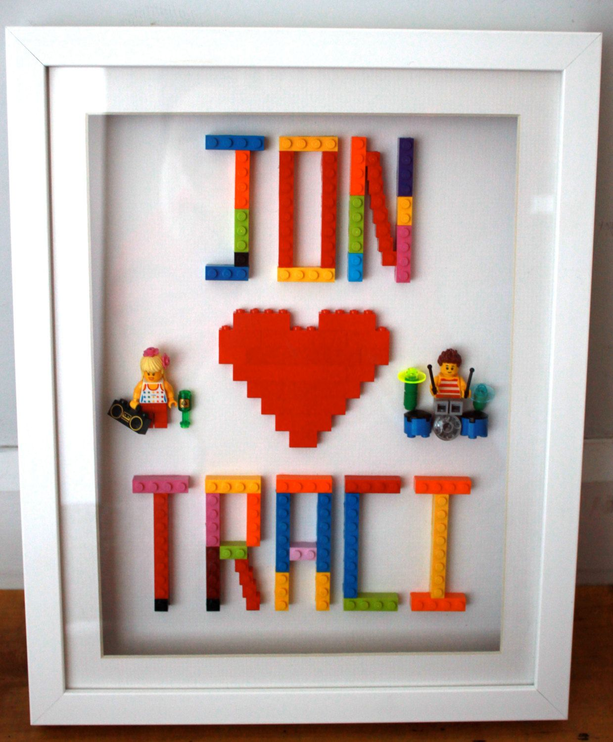 Perfect For Wedding Gift Or Loved Ones Personalised Lego Art With