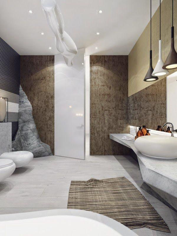 Interior de un impresionante baño lujoso en fotos Baños lujosos - baos lujosos