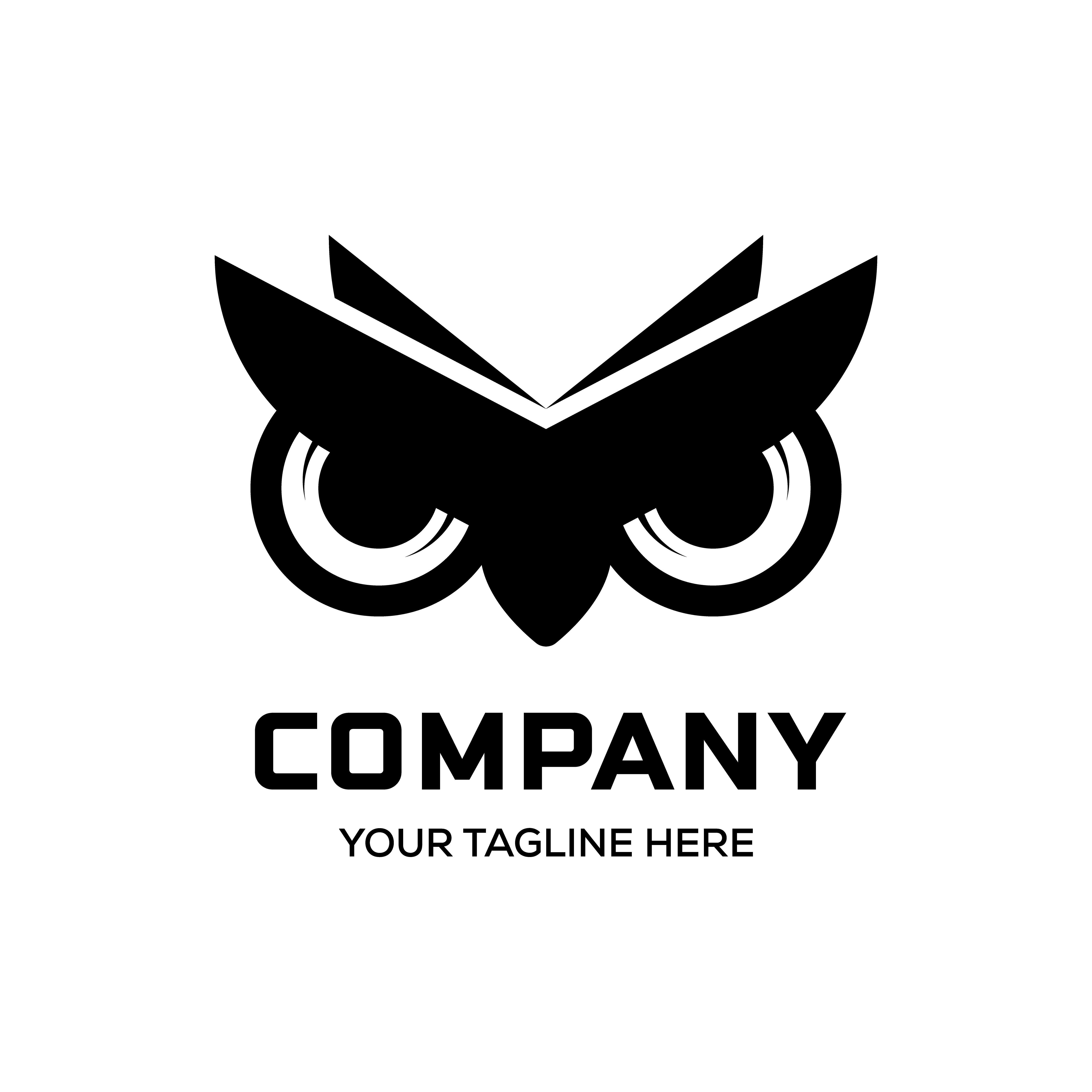 owl eyes logo vector designs by linimasa Burung hantu