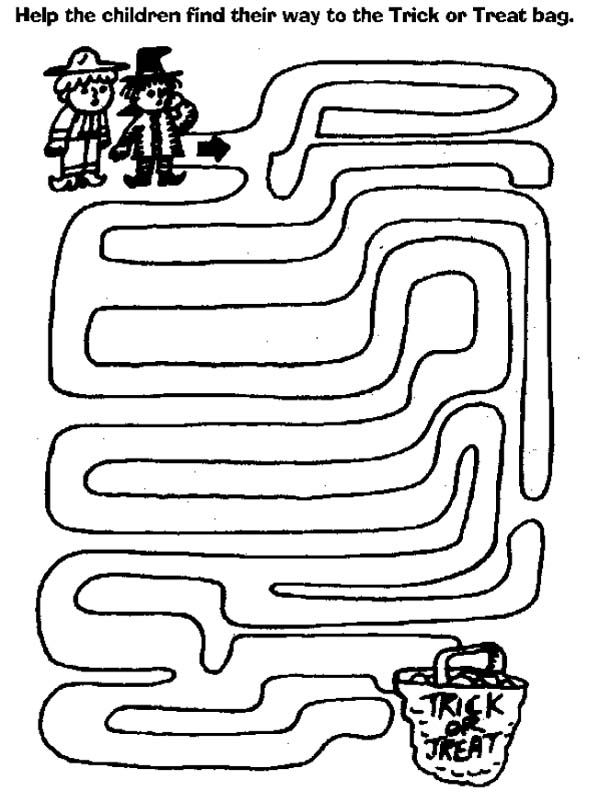 maze page print your free maze at allkidsnetworkcom - Halloween Activities To Print