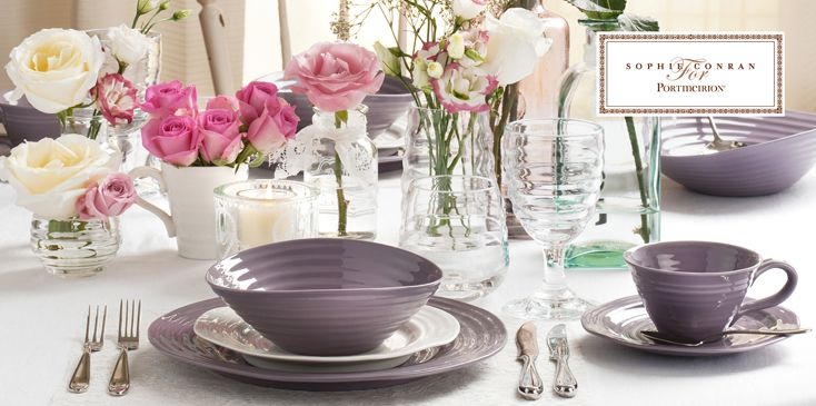 The Sophie Conran for Portmeirion collection in Mulberry. #dinnerware & The Sophie Conran for Portmeirion collection in Mulberry ...