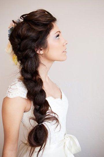 Trenza XXL Peinados para novias Pinterest Trenza, Trenzas