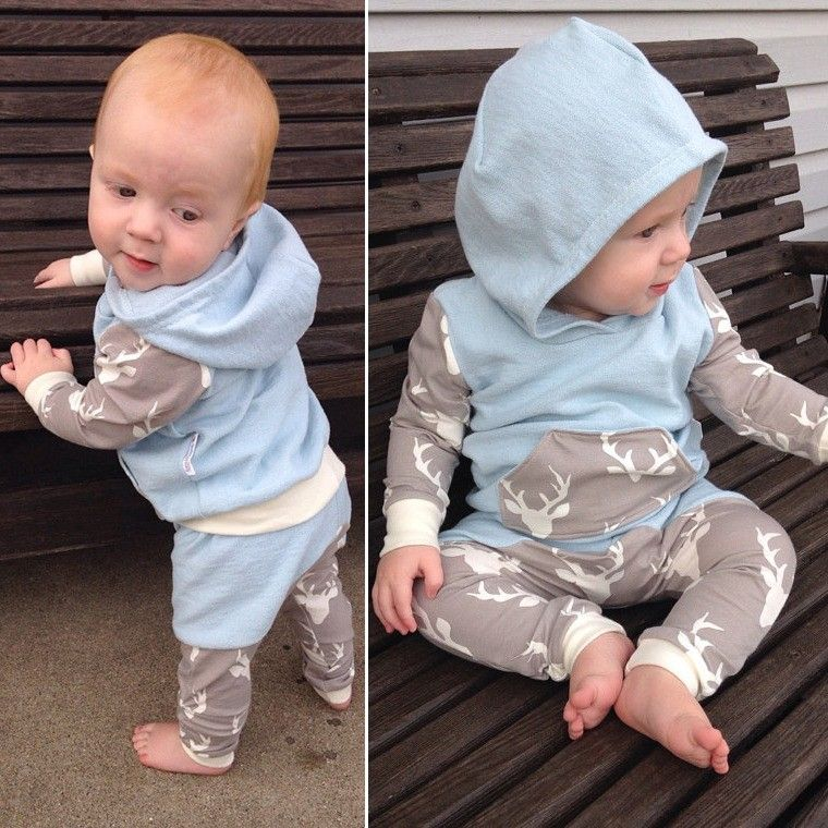 2017Autumn Toddler Kids Baby Boys Clothes Details Kids Baby Boys