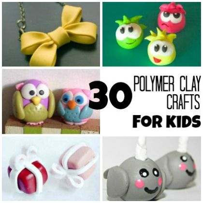 30 Adorable Polymer Clay Crafts Kids Can Do Crafts Polymer Clay