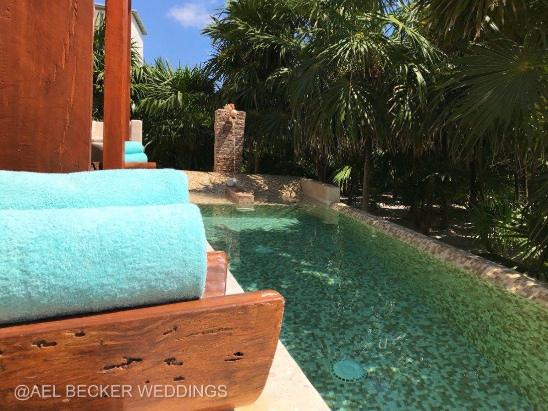 Main House Pool At Mukan Resort Sian Kaan Mexico Boutique Eco Friendly