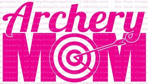 Archery Mom Vinyl Decal Sticker Triathlon Swimming Biking Running