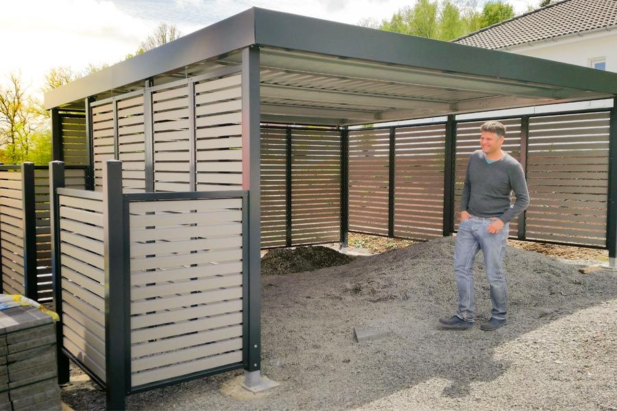 Garage Bilder bilder carport garage gerätehäuser siebau kert
