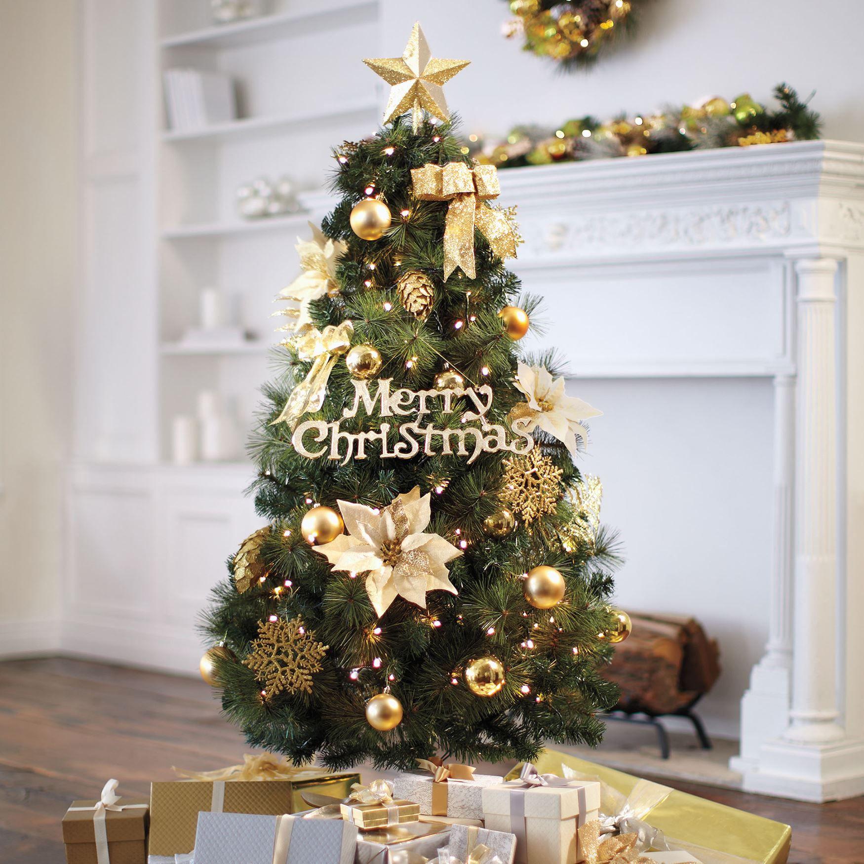 Christmas Tree Brylane Home 5Ft Poinsetta Tree
