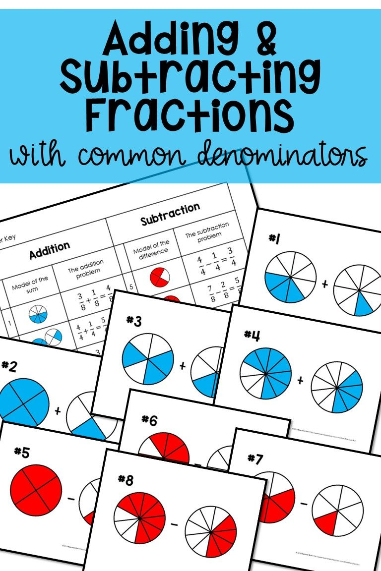 Adding And Subtracting Fractions With Models Subtracting Fractions Adding And Subtracting Fractions Adding And Subtracting Adding and subtracting like fractions